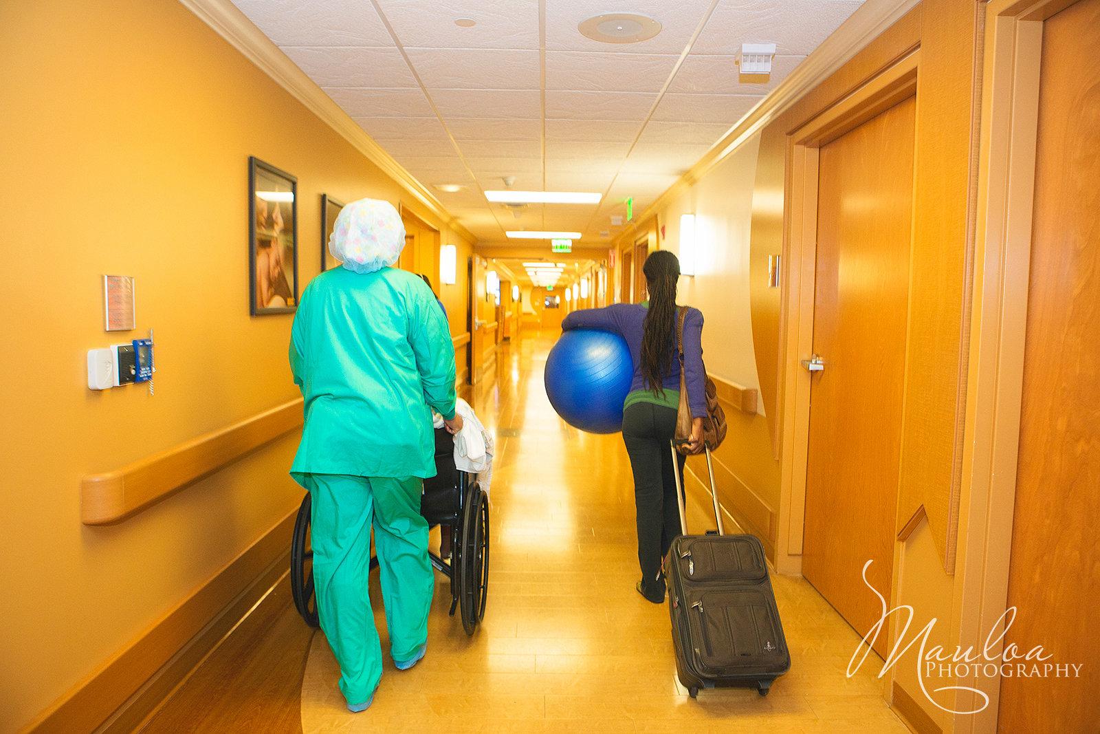 Heading to maternity ward