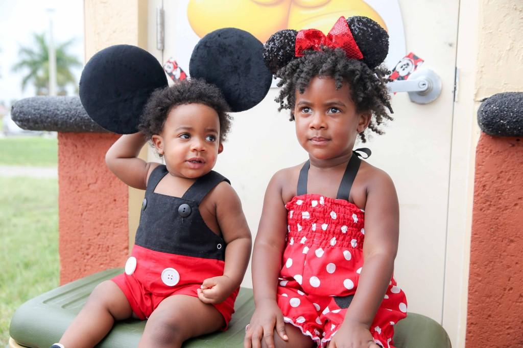 Miss Bobbi declared days before the party that AJ was Mickey and she was Minnie...wish granted!