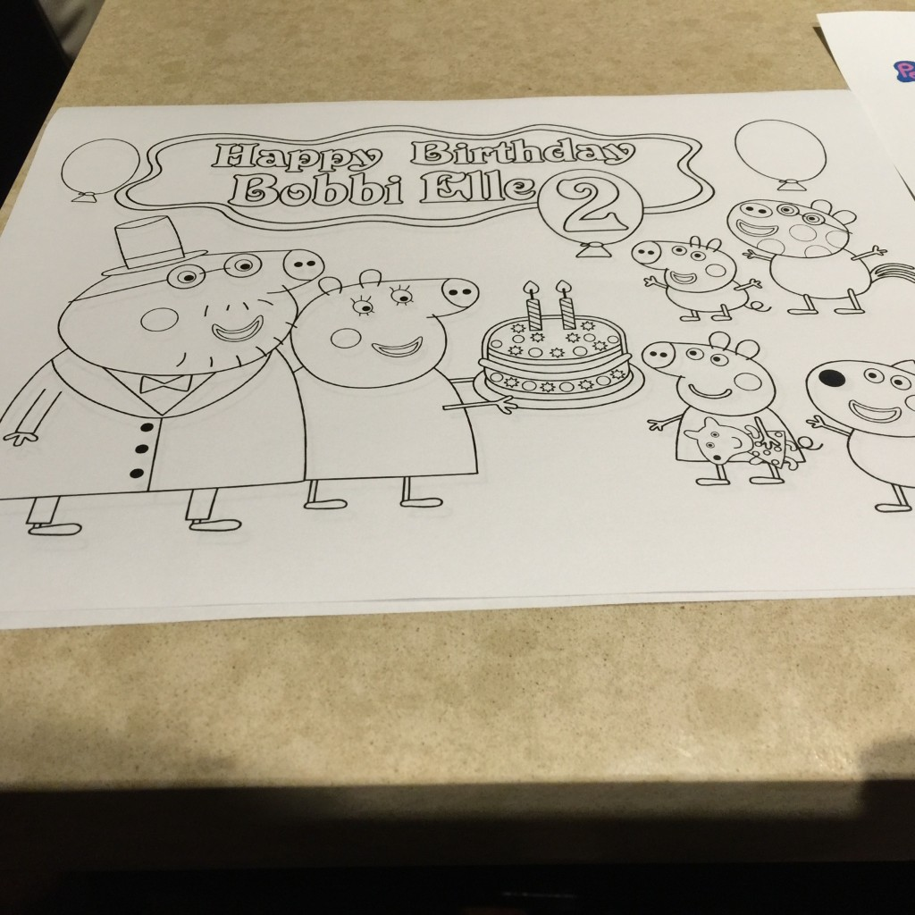 Peppa Pig coloring sheet