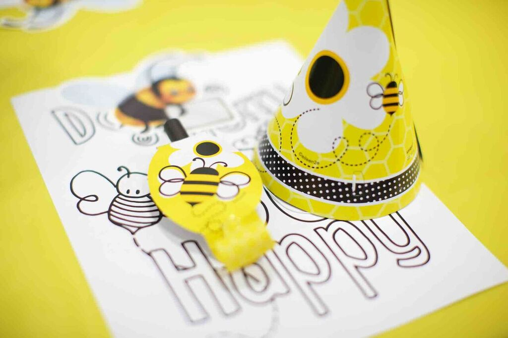 Don't Worry Bee Happy coloring page
