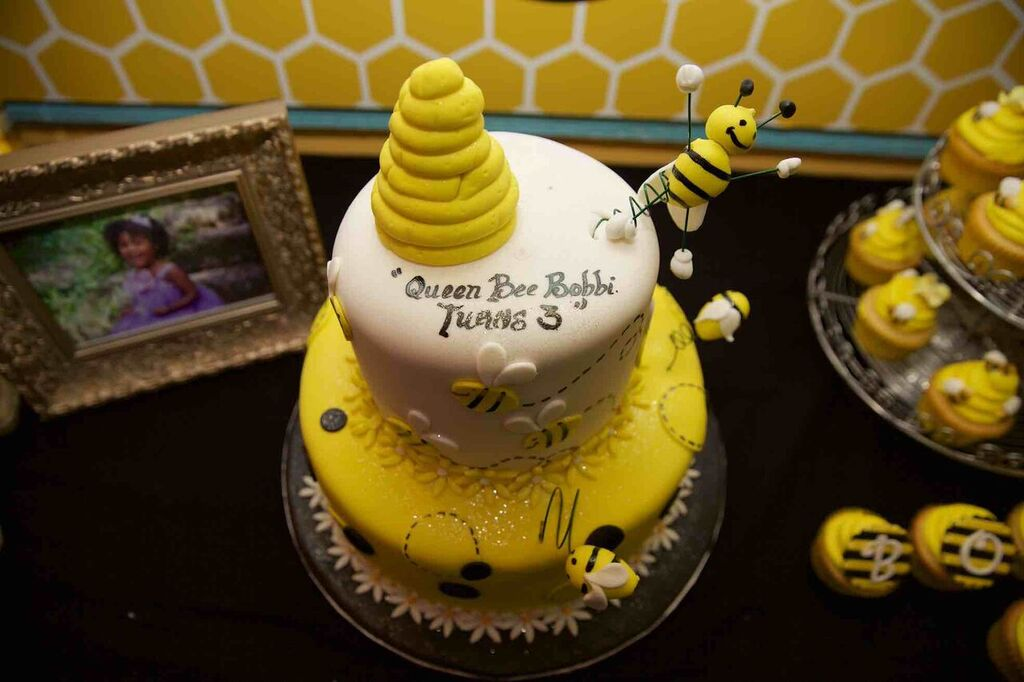 Yellow And Black Set The Tone For Party Desert Table I Added Framed Photos From Her Birthday Photo Shoot