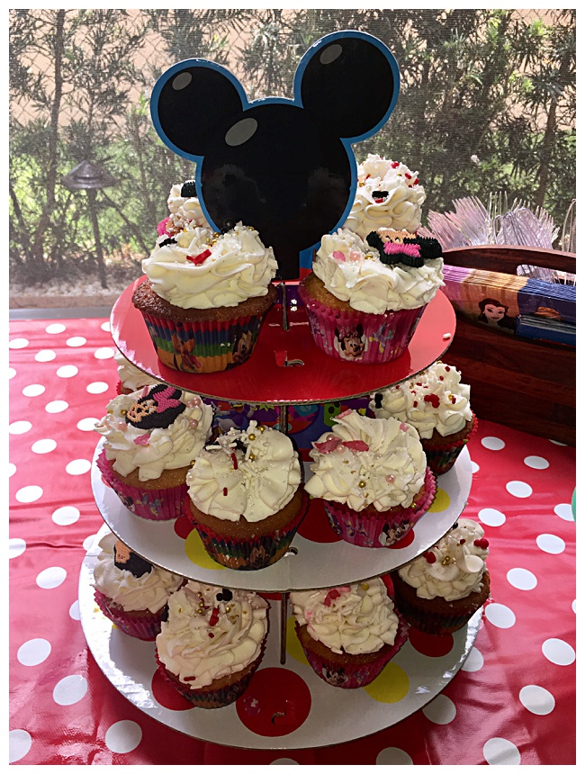 Disney Kids Preschool Playdate - One Balanced Mama; Disney cupcakes